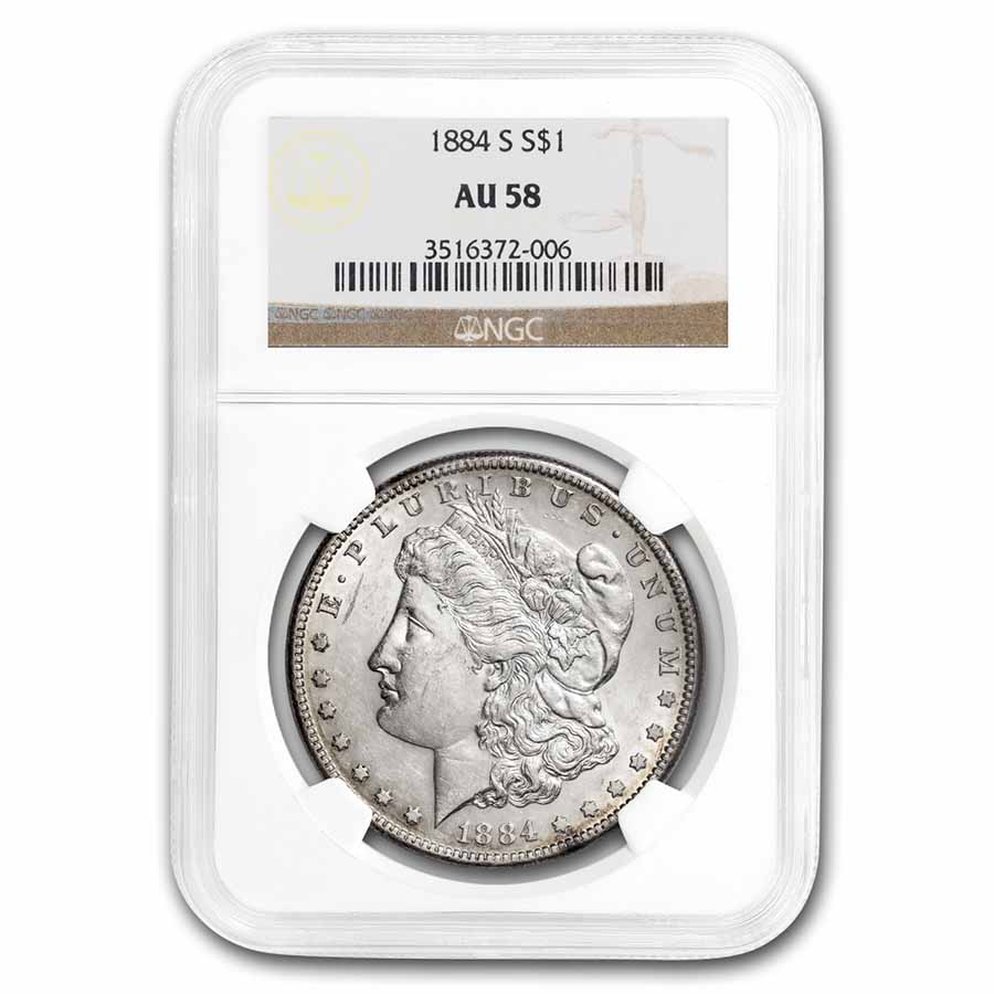 1884-S Morgan Dollar AU-58 NGC