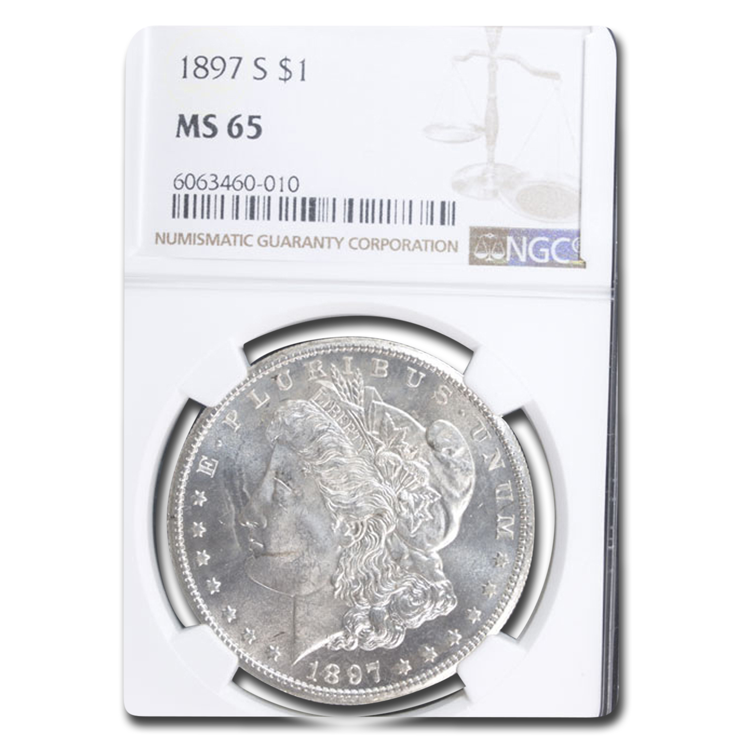 1897-S Morgan Dollar MS-65 NGC