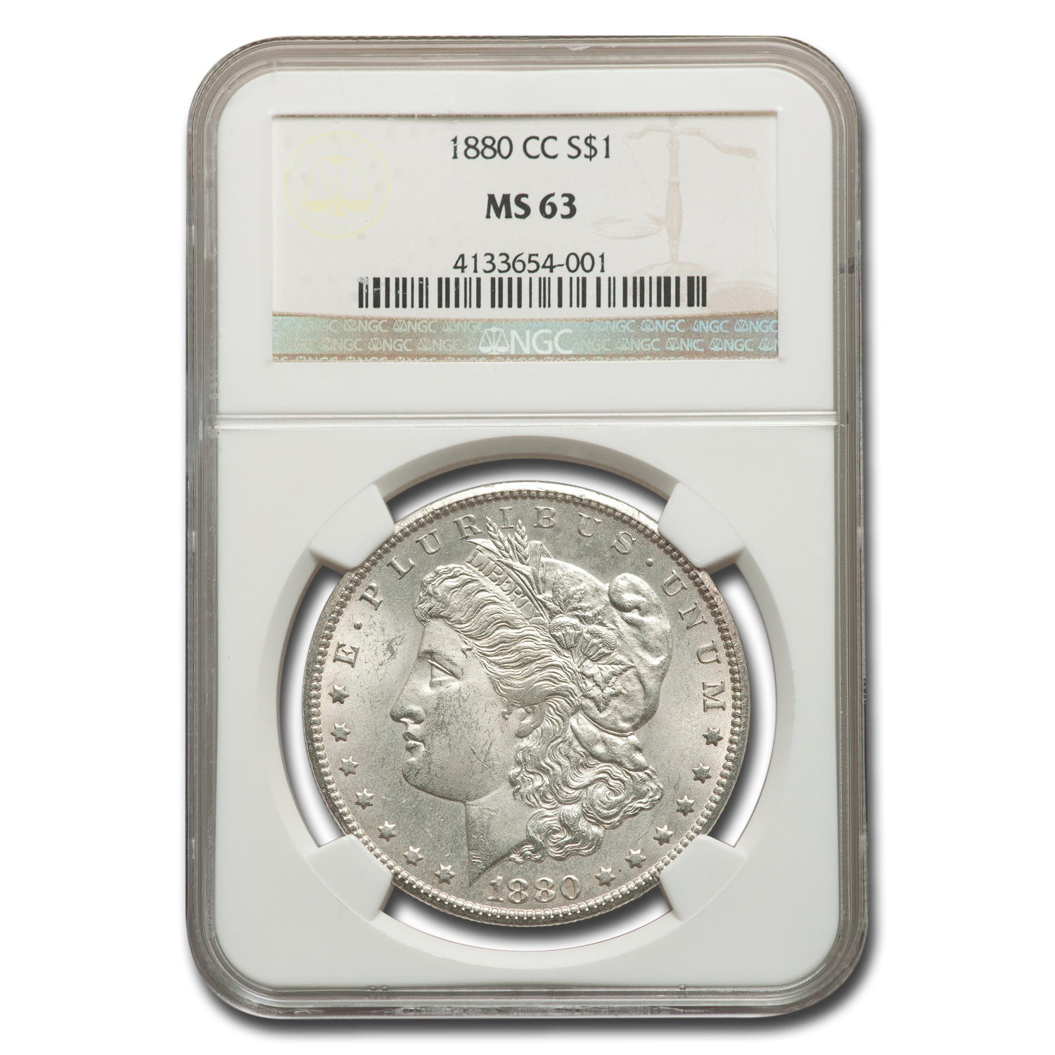 1880-CC Morgan Dollar - MS-63 NGC