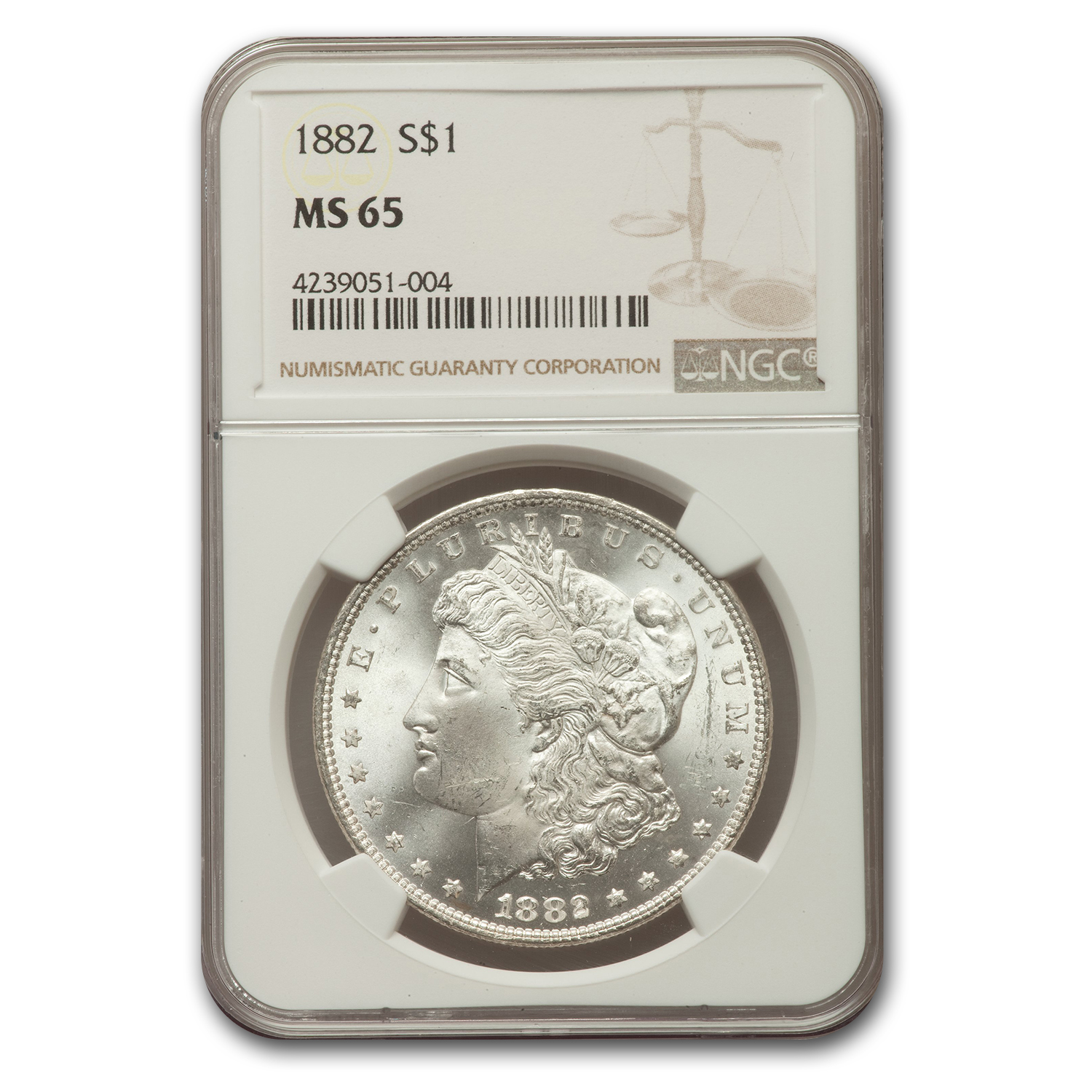 1882 Morgan Dollar MS-65 NGC