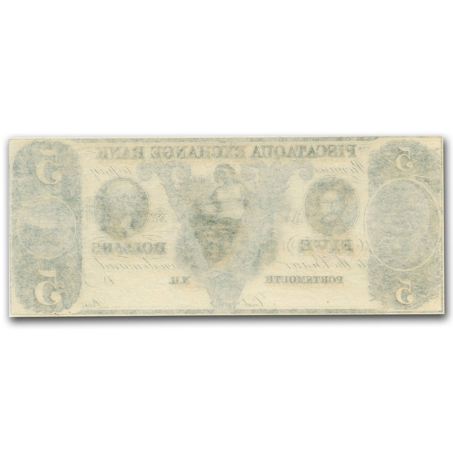 18__ Piscataqua Exchange Bank, Portsmouth $5.00 Note NH-285 CU
