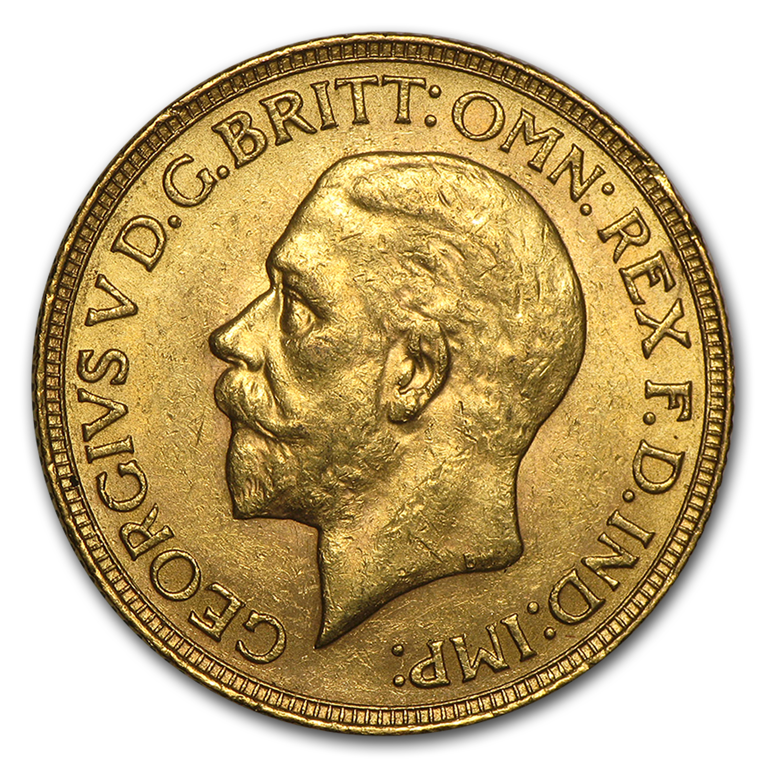 1925-1932 South Africa Gold Sovereign George V Avg Circ