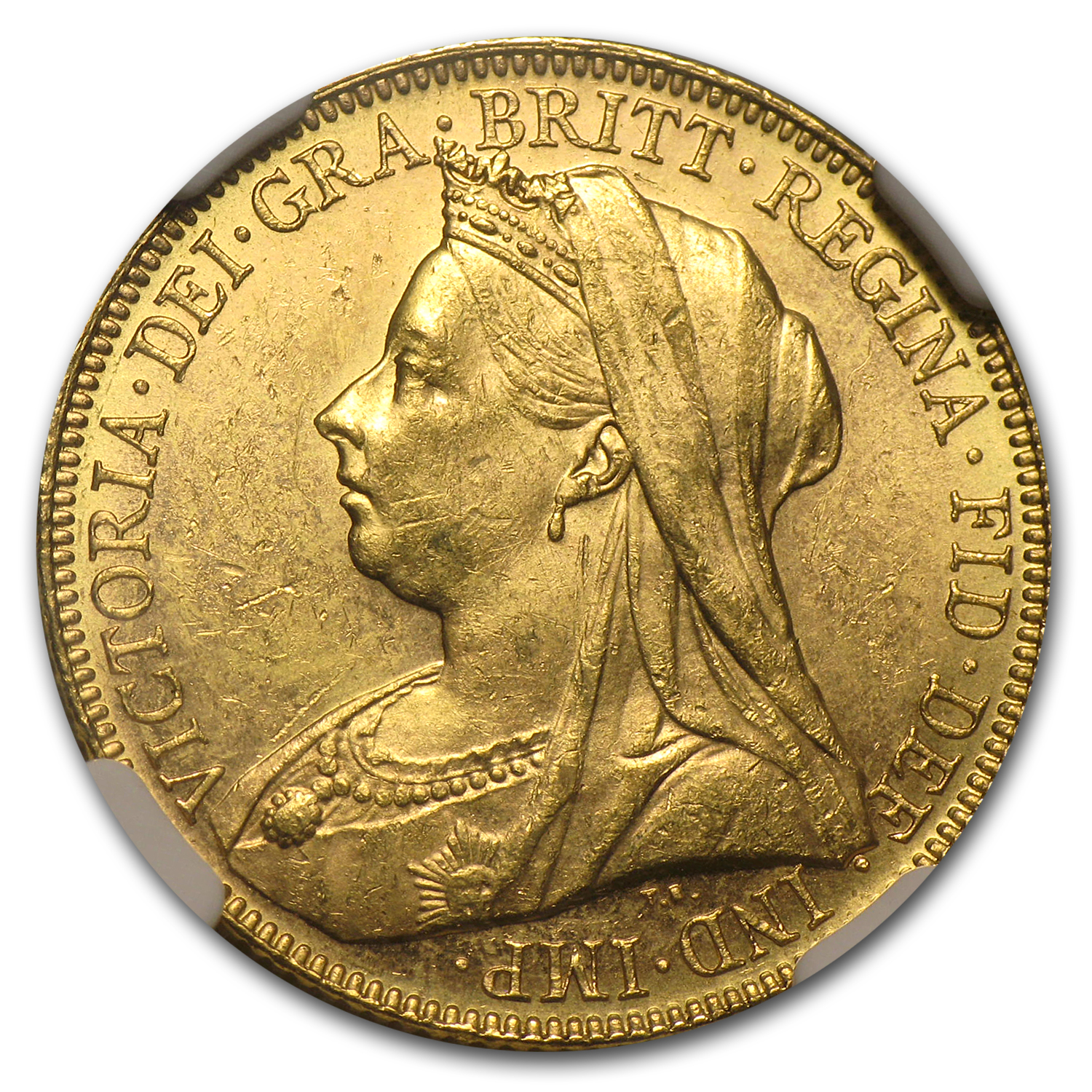 1901-M Australia Gold Sovereign Victoria MS-61 NGC