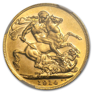 Australia Sovereign Gold George V PCGS/NGC MS-64