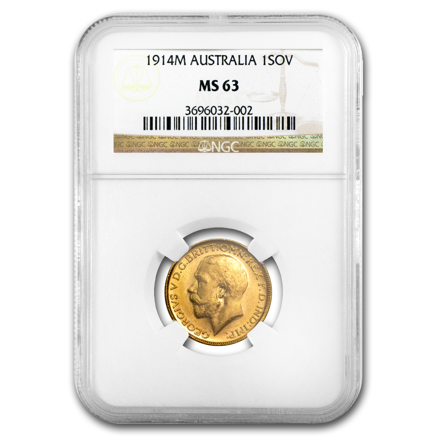 Australia Gold Sovereign George V MS-63 PCGS/NGC