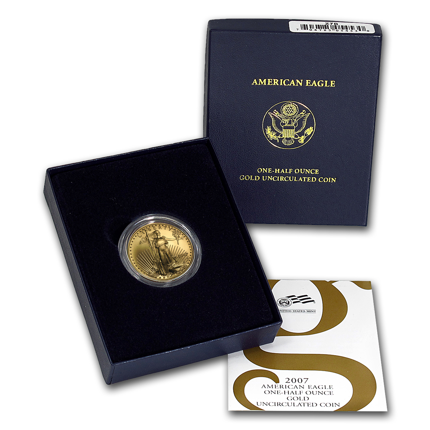 2007-W 1/2 oz Burnished Gold American Eagle (w/Box & COA)
