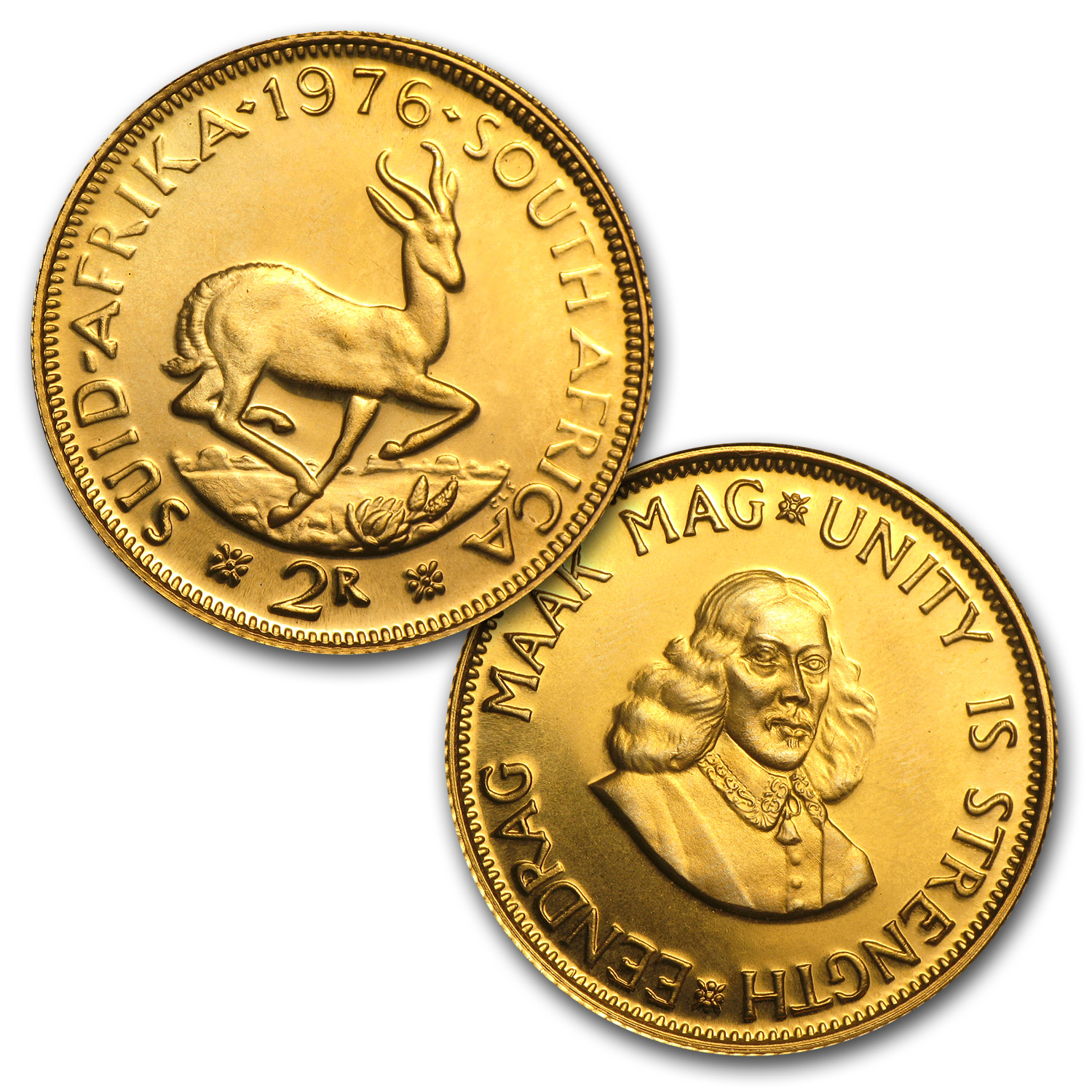 1976 South Africa 2-Coin Gold Proof Set