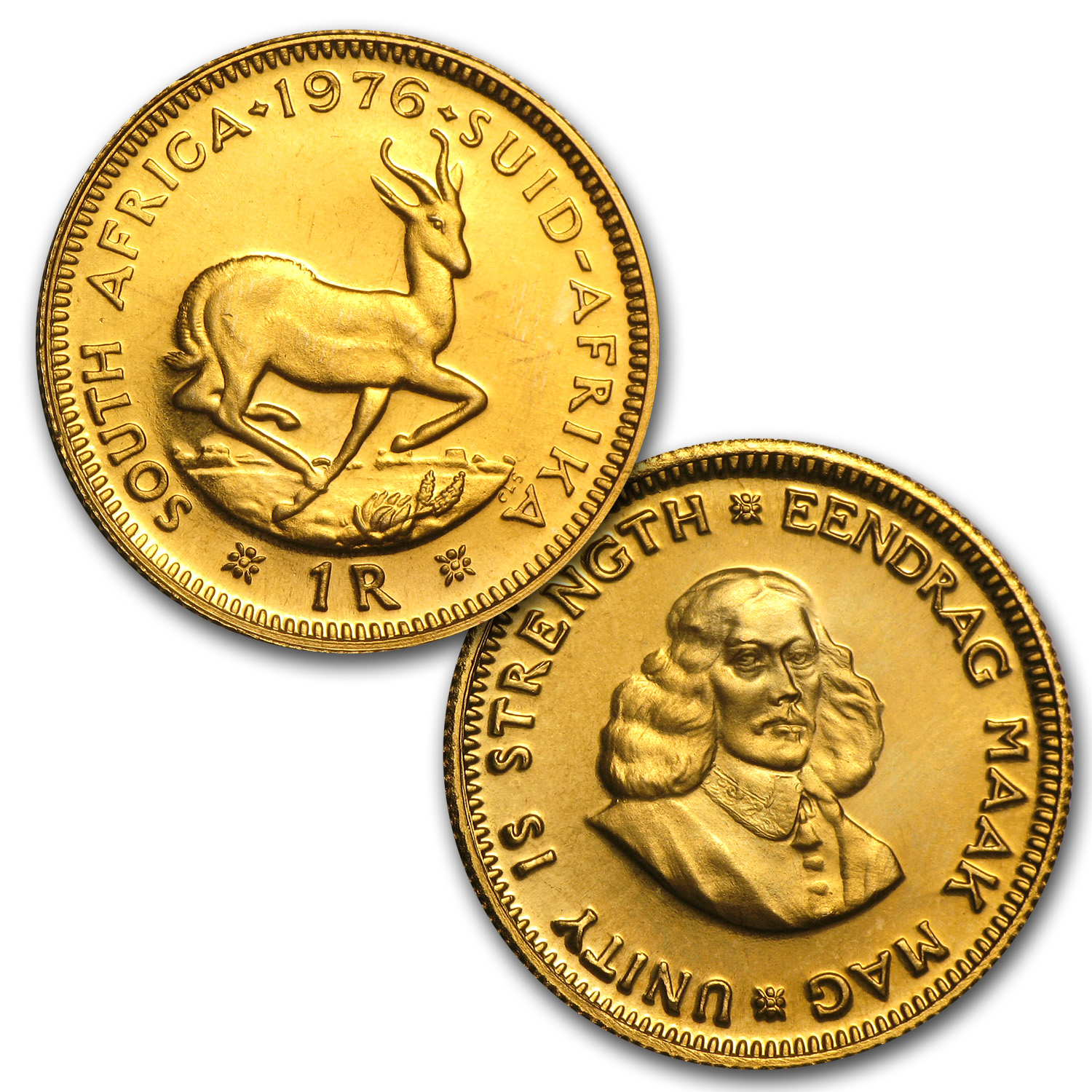 1976 South African Gold Proof Set (2-Coin)