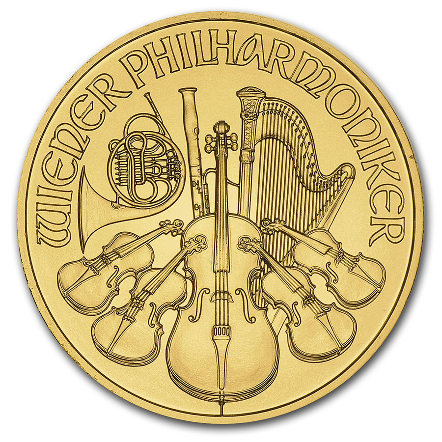 1/10 oz Gold Austrian Philharmonic (Random Years)