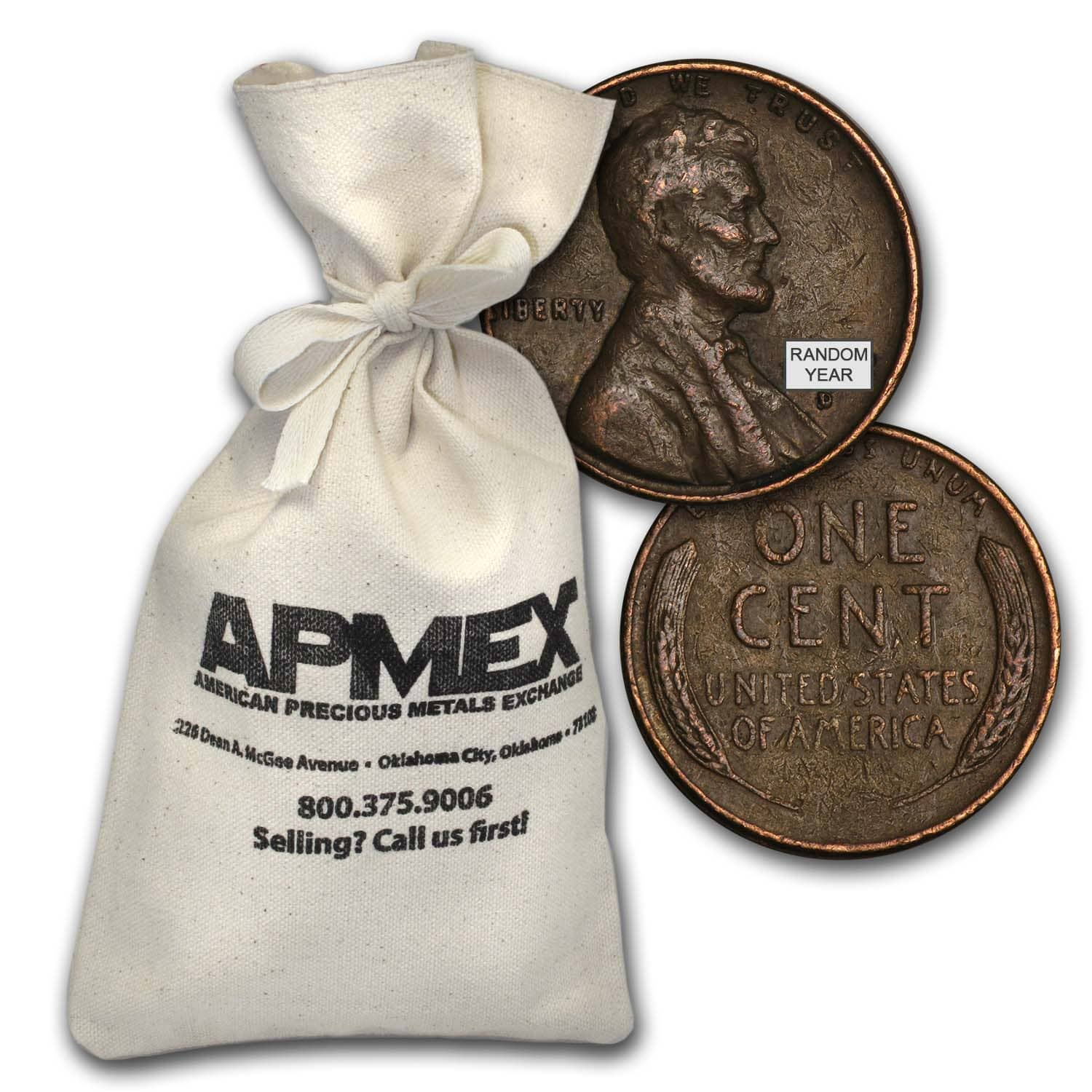 1909-1958 Wheat Cent 5,000-Count Bags