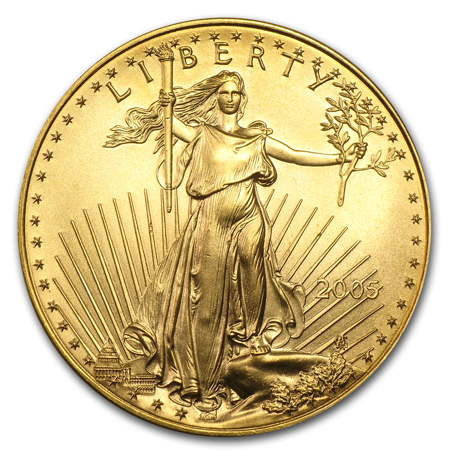 2005 1 oz Gold American Eagle BU