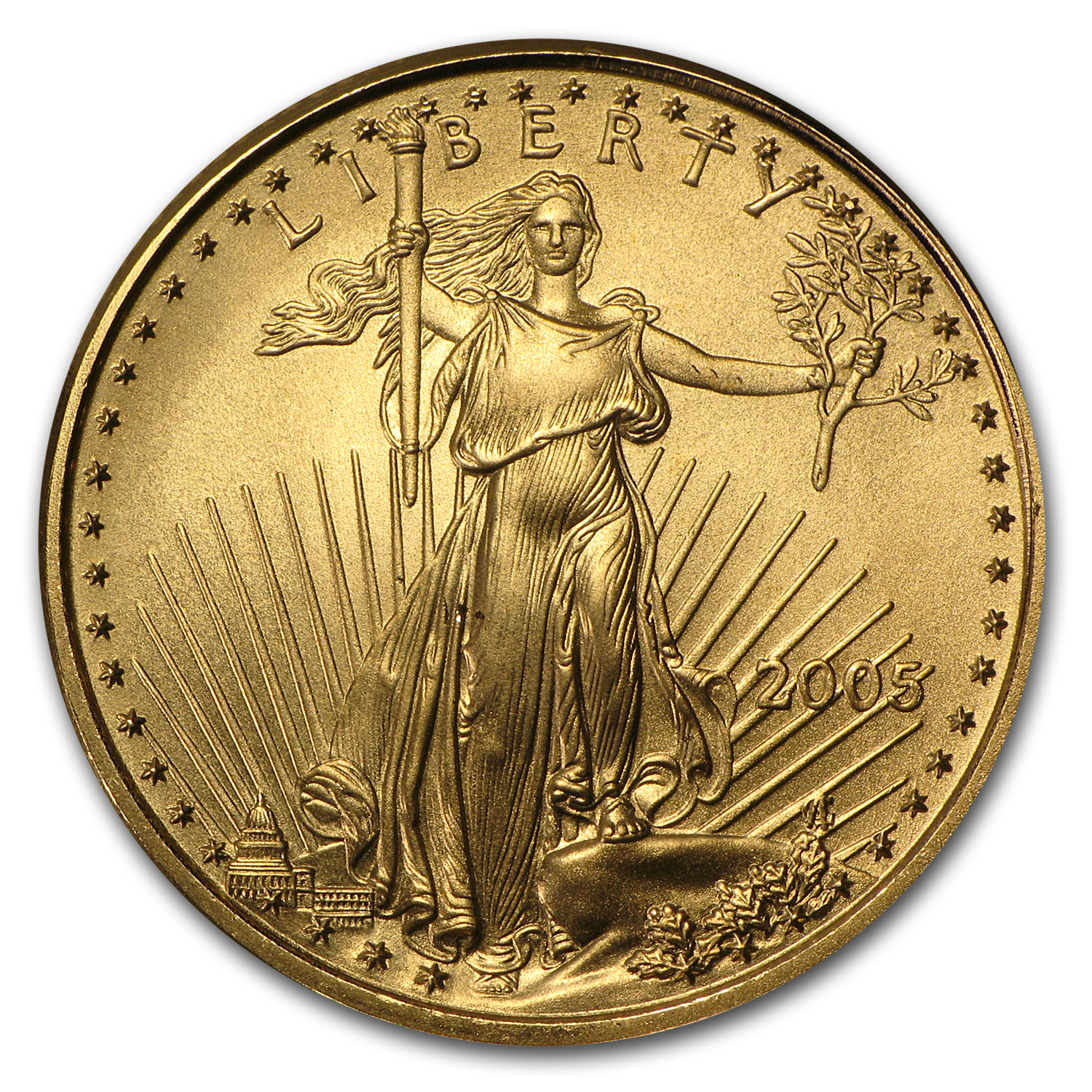 2005 1/4 oz Gold American Eagle BU