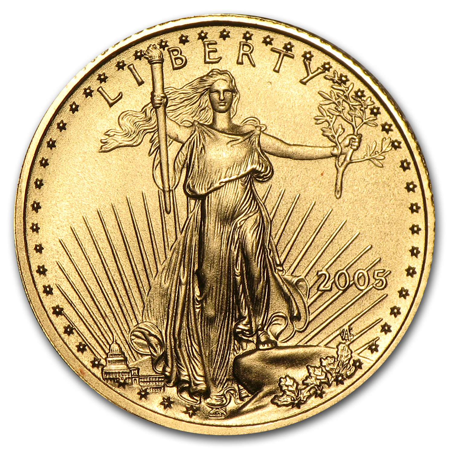 2005 1/10 oz Gold American Eagle BU