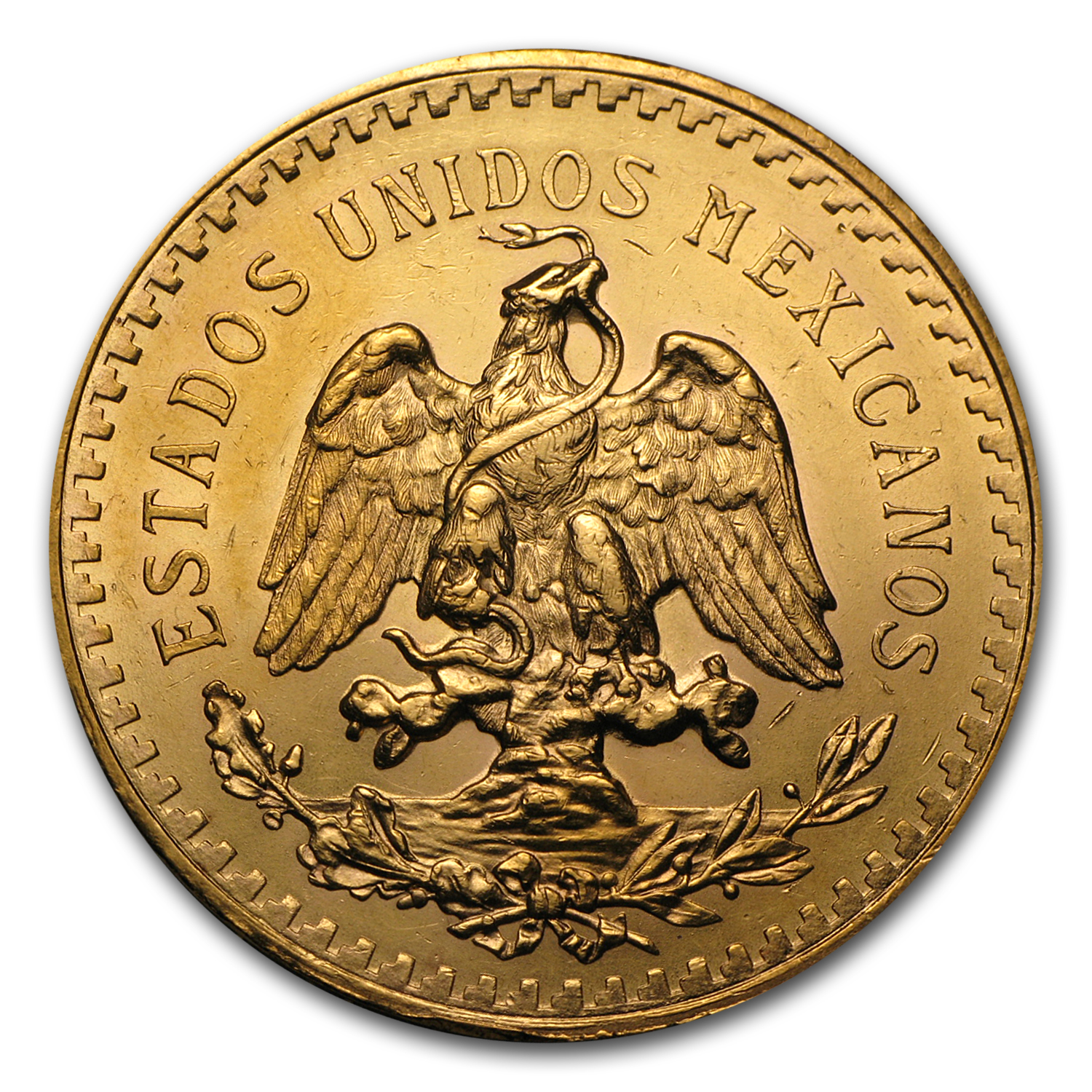 1944 Mexico Gold 50 Pesos AU