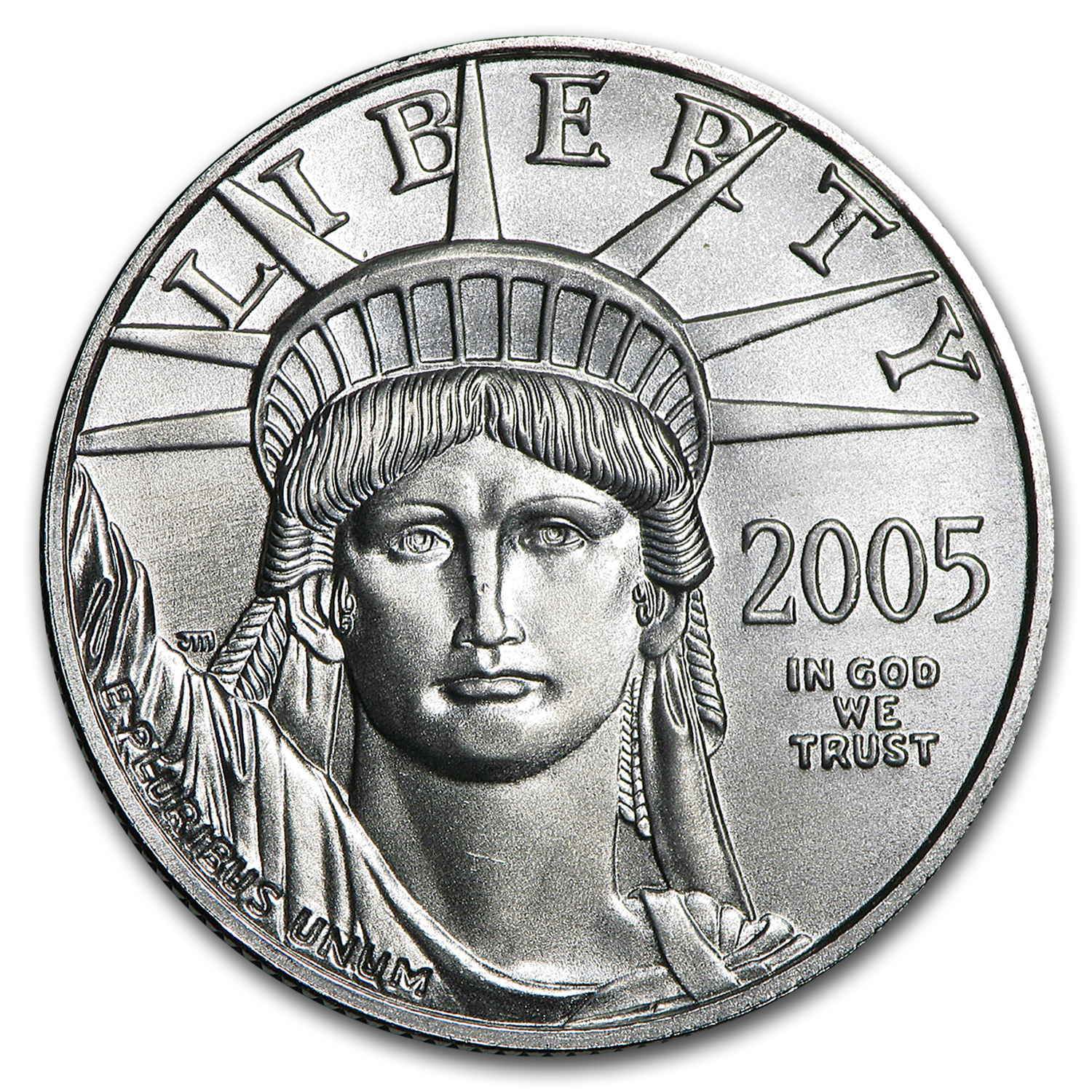 2005 1/2 oz Platinum American Eagle BU