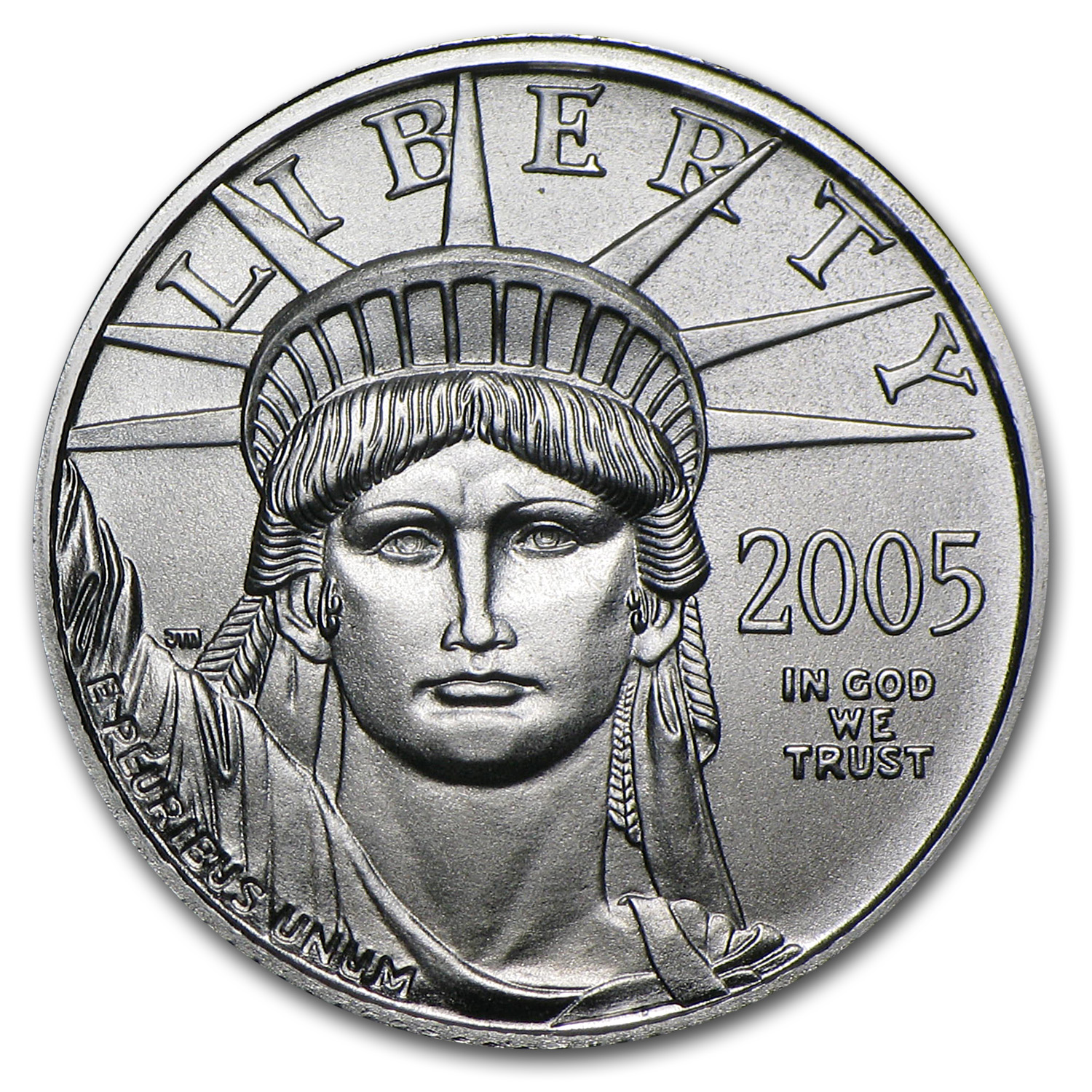 2005 1/10 oz Platinum American Eagle BU