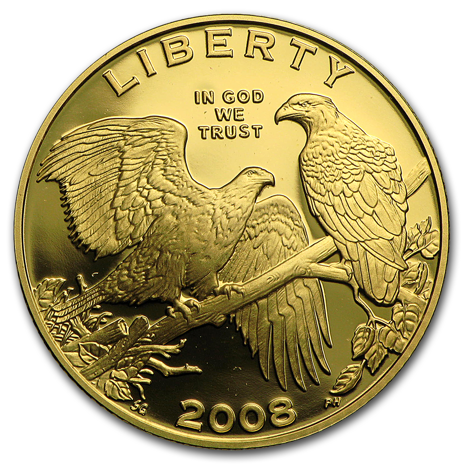 2008-W Gold $5 Commem Bald Eagle Proof (w/Box & COA)