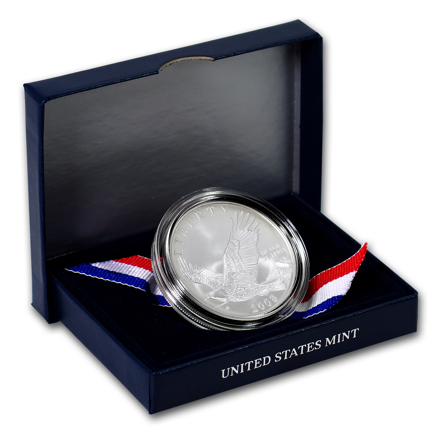 2008-P Bald Eagle $1 Silver Commem BU (w/Box & COA)