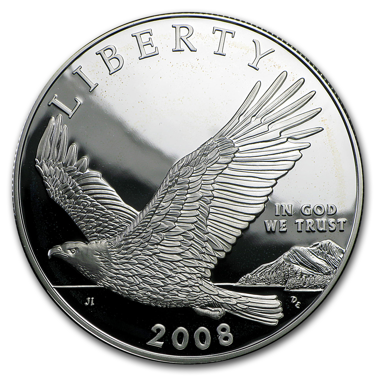 2008-P Bald Eagle $1 Silver Commem Proof (w/Box & COA)