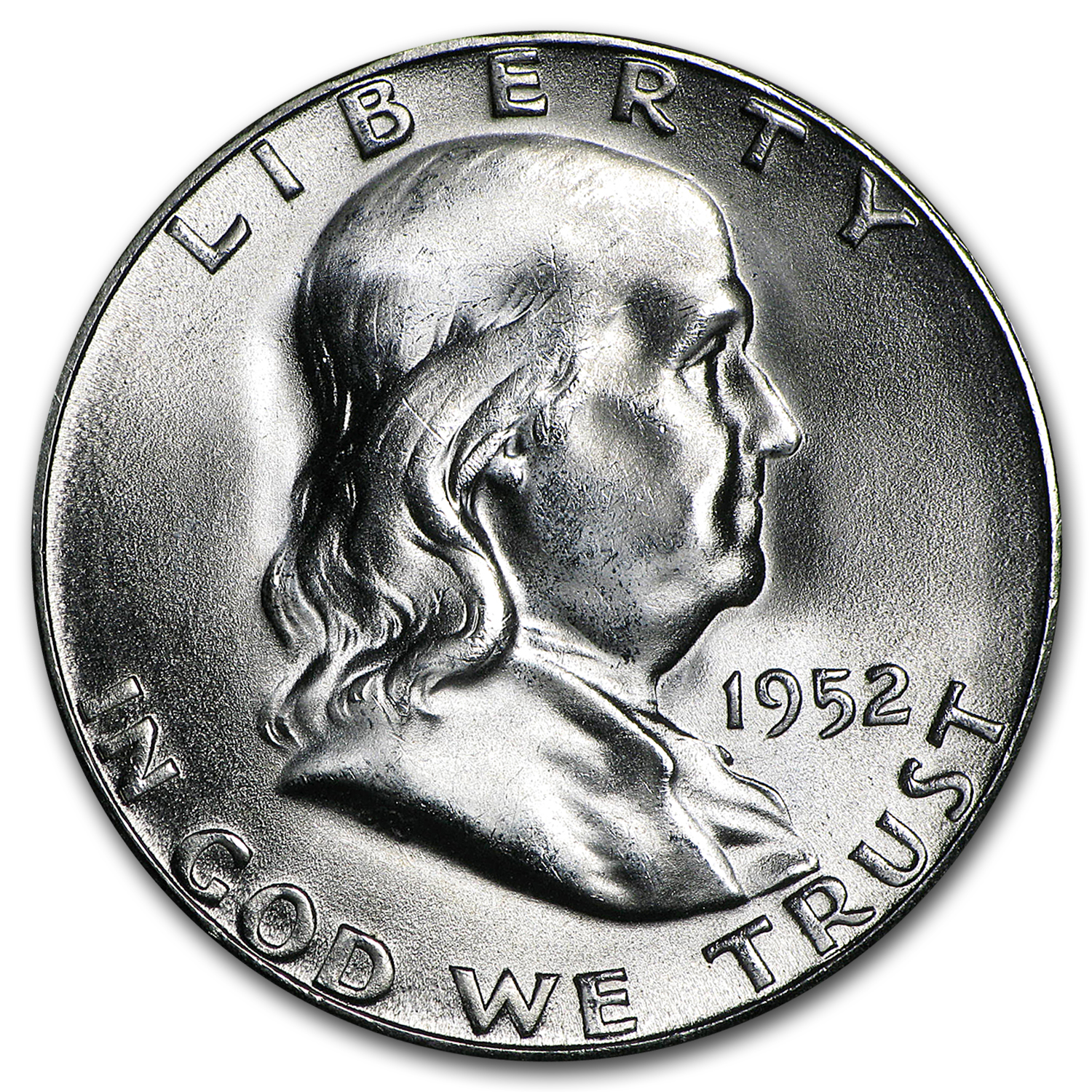 1952-S Franklin Half Dollar BU