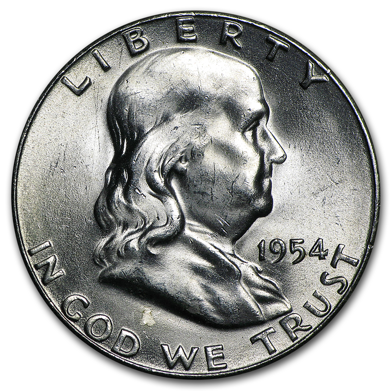 1954-S Franklin Half Dollar BU