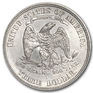1876-S Trade Dollar - Uncirculated Details - Cleaned