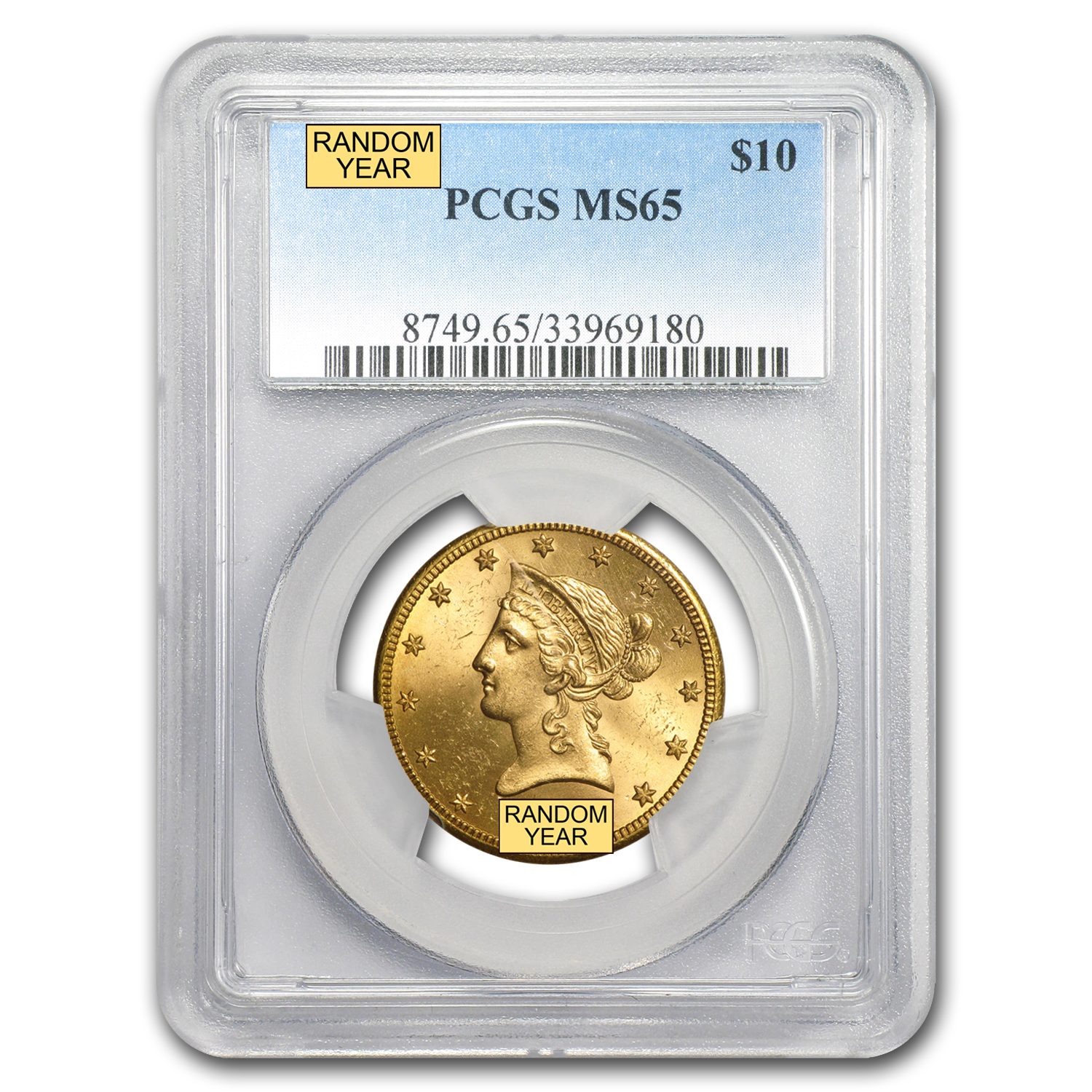 $10 Liberty Gold Eagle MS-65 PCGS