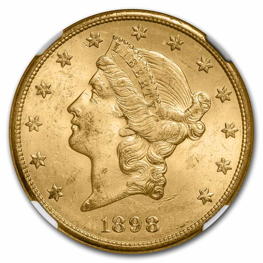 1898-S $20 Liberty Gold Double Eagle MS-63 NGC