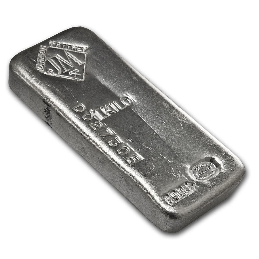 1 Kilo Silver Bar Johnson Matthey Serial Canada