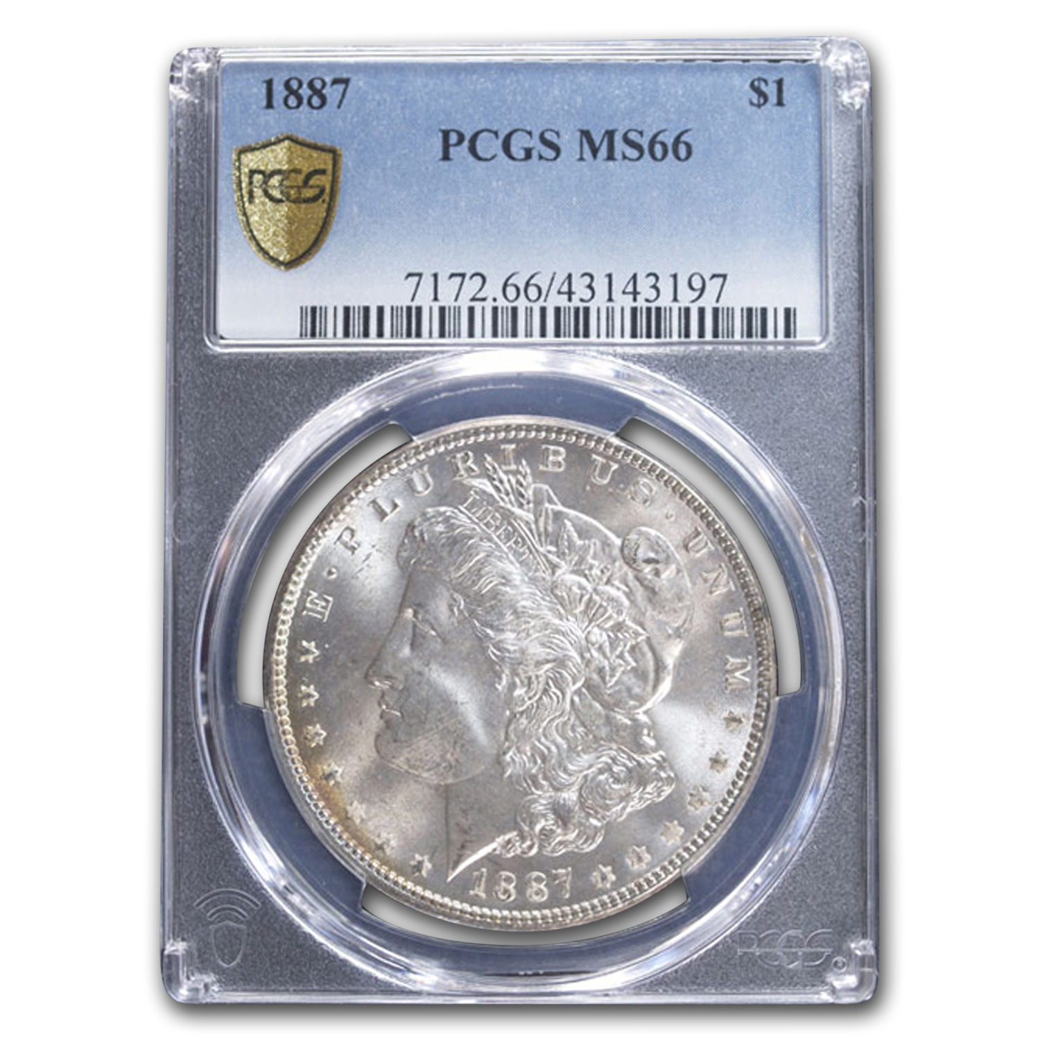 1887 Morgan Dollar - MS-66 PCGS