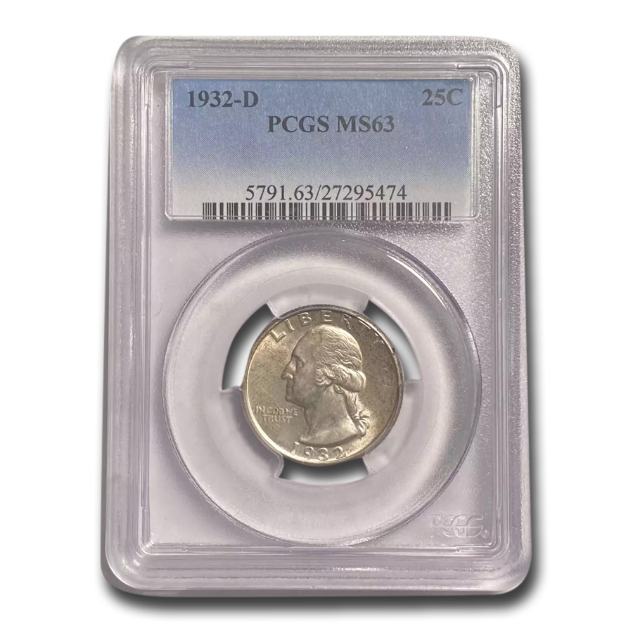 1932-D Washington Quarter MS-63 PCGS
