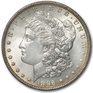 1896 Morgan Dollar MS-65 (Paramount International Coin Co.)