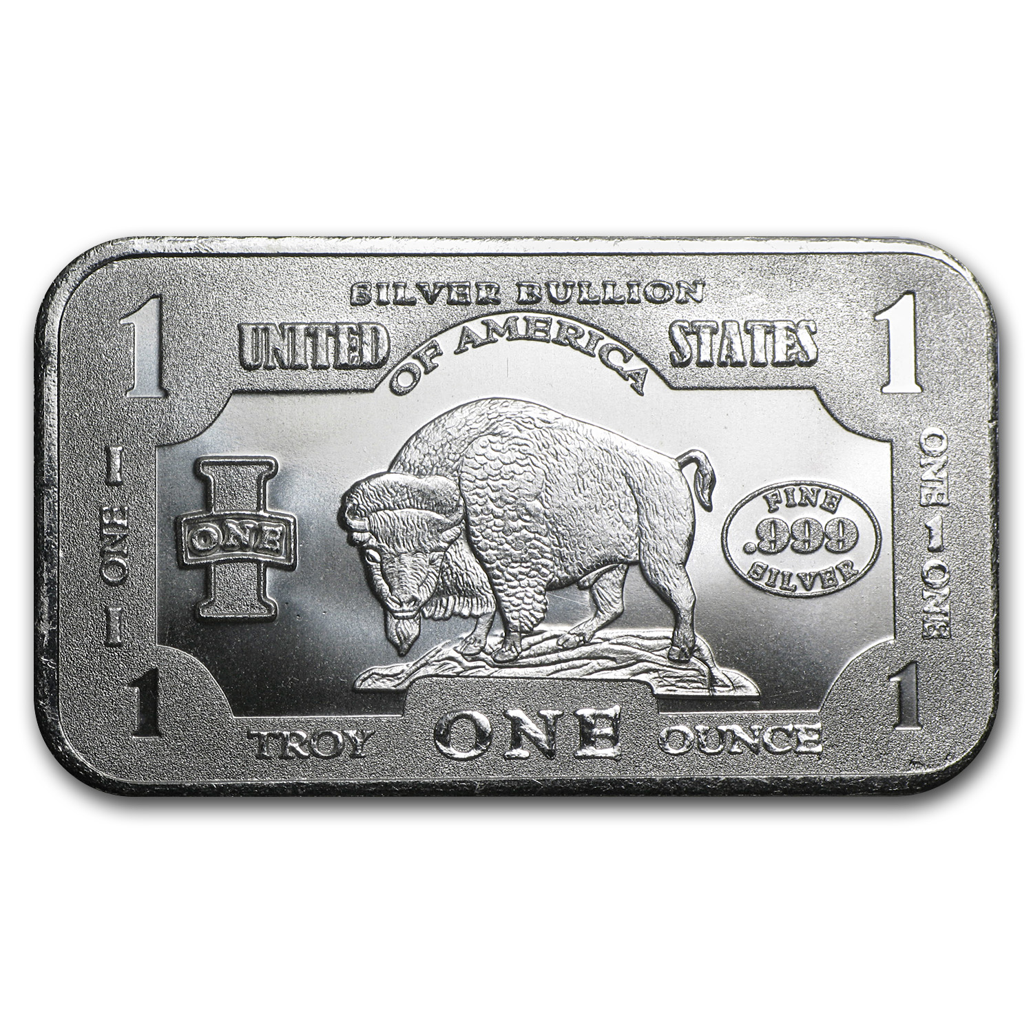 1 oz Silver Bars - Buffalo
