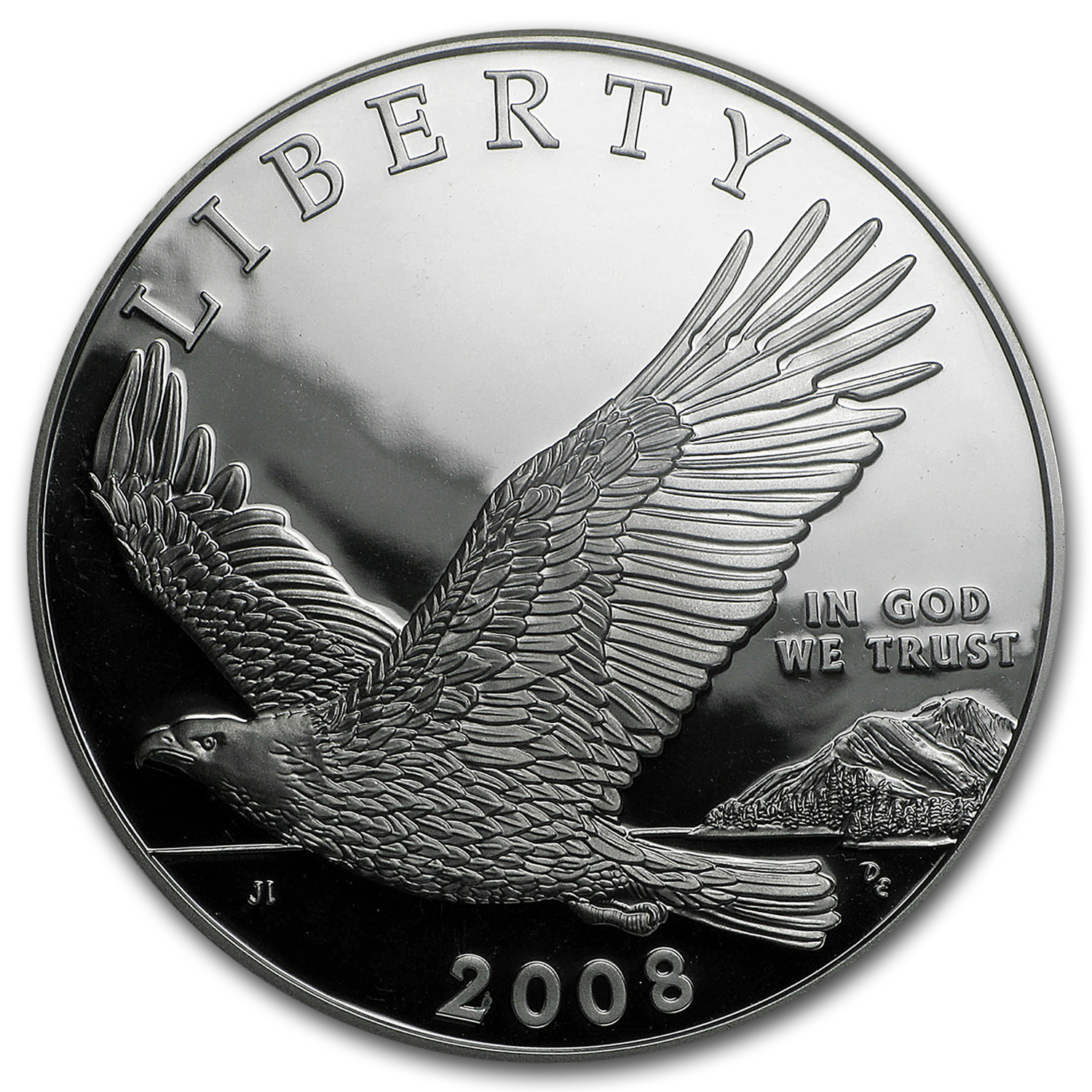 2008-P Bald Eagle $1 Silver Commem PF-69 NGC