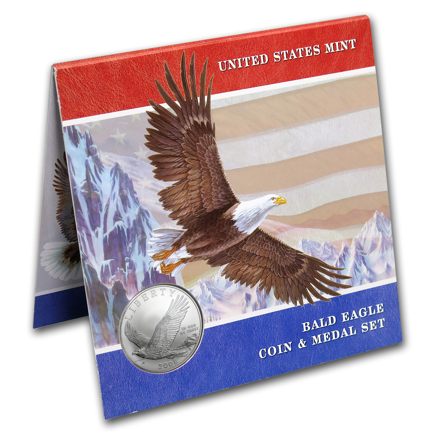 2008 Bald Eagle Coin and Medal Set BU (Booklet)