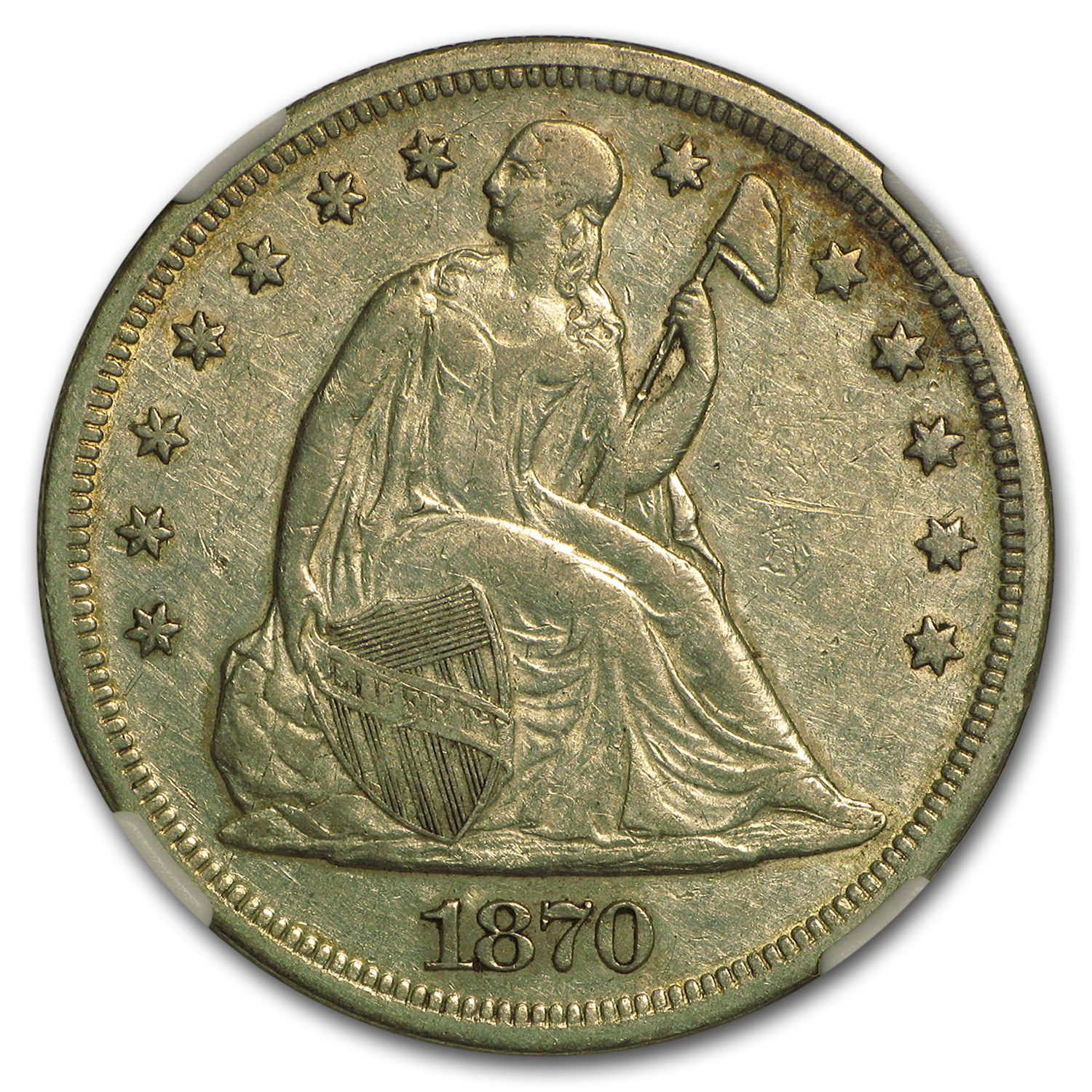 1870 Liberty Seated Dollar Extra Fine