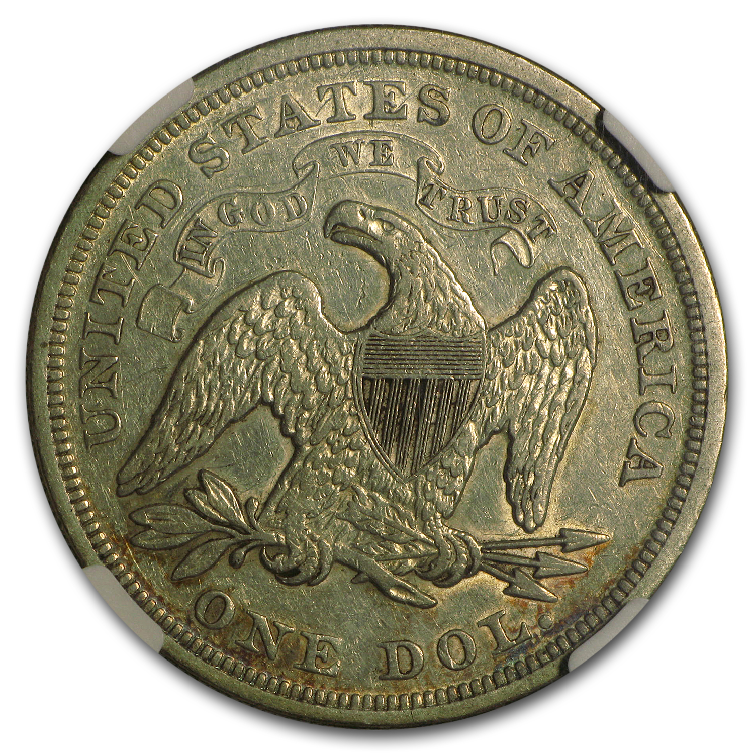 1870 Liberty Seated Dollar XF