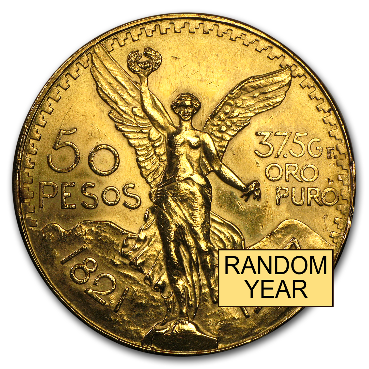 Mexican Gold 50 Pesos (Abrasions)
