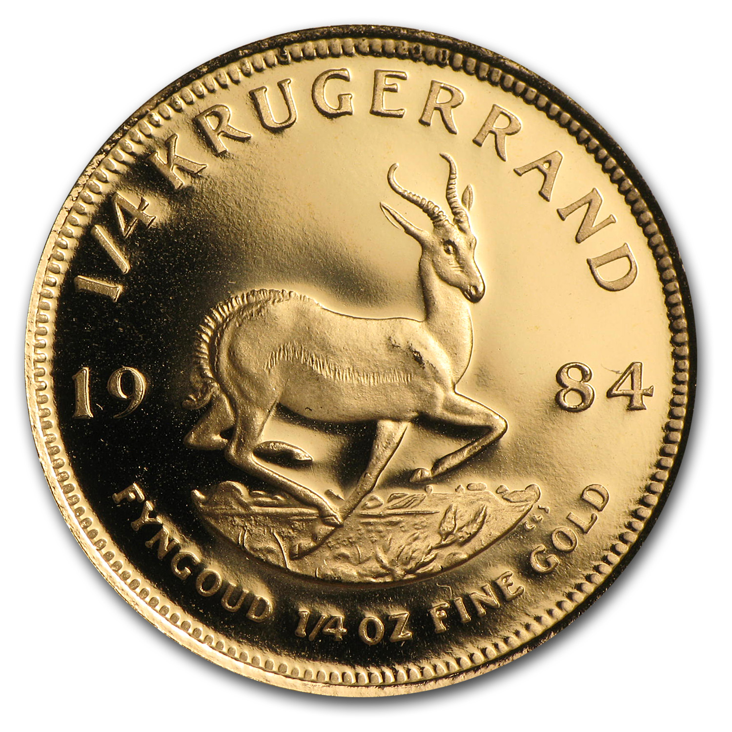 1984 South Africa 1/4 oz Proof Gold Krugerrand