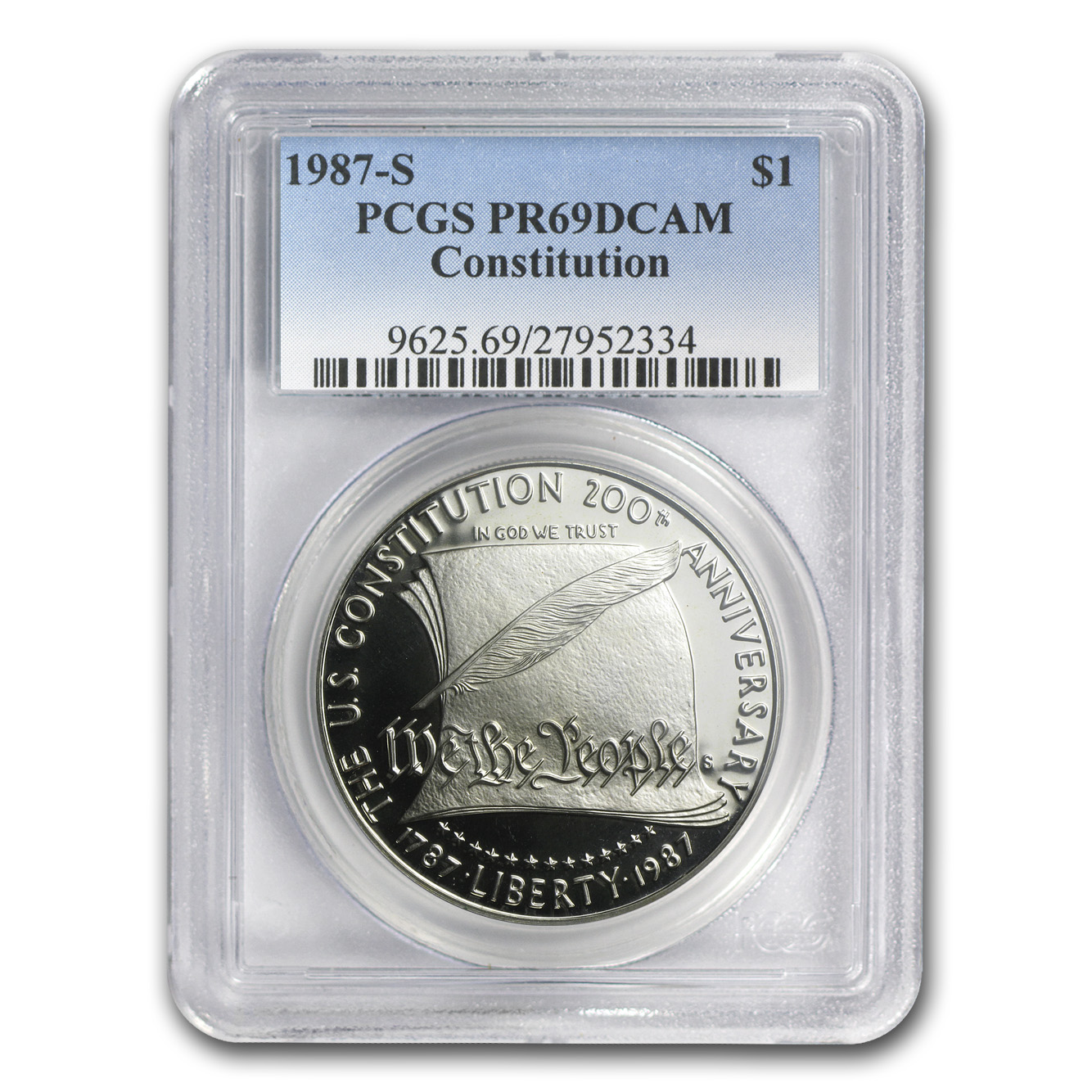 U.S. Mint $1 Silver Commemorative MS/PR-69 PCGS