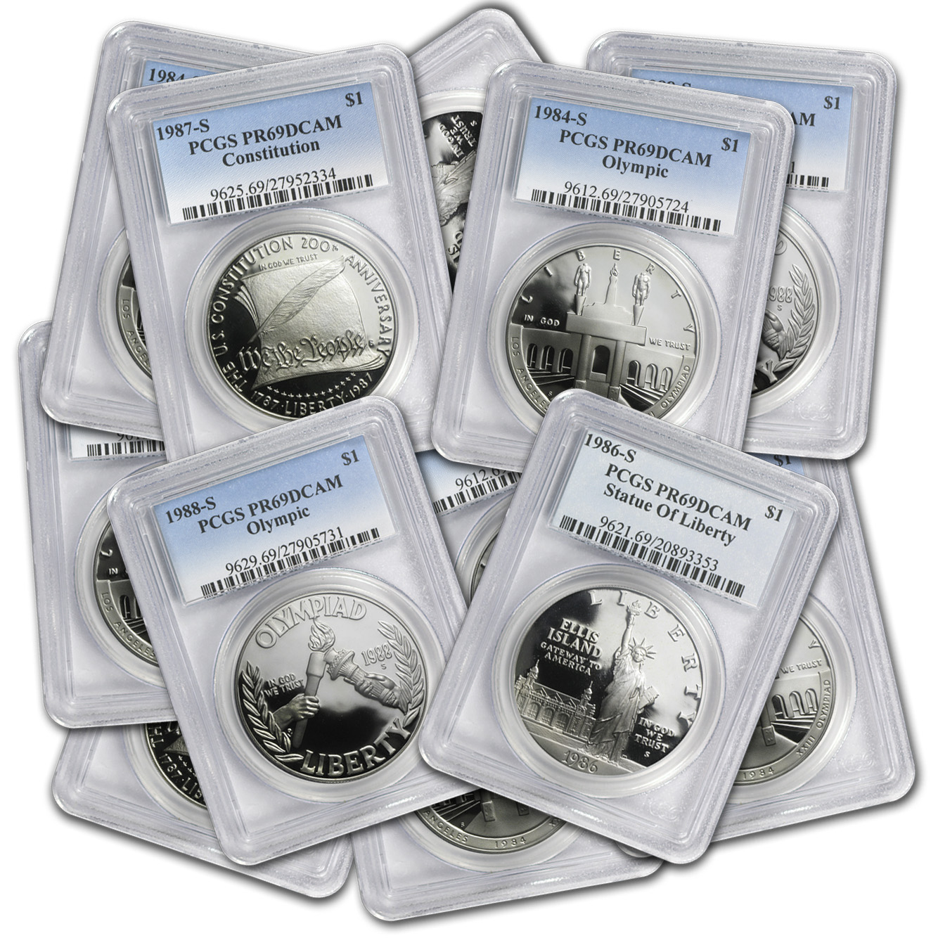 U.S. Mint $1 Silver Commem MS/PR-69 PCGS