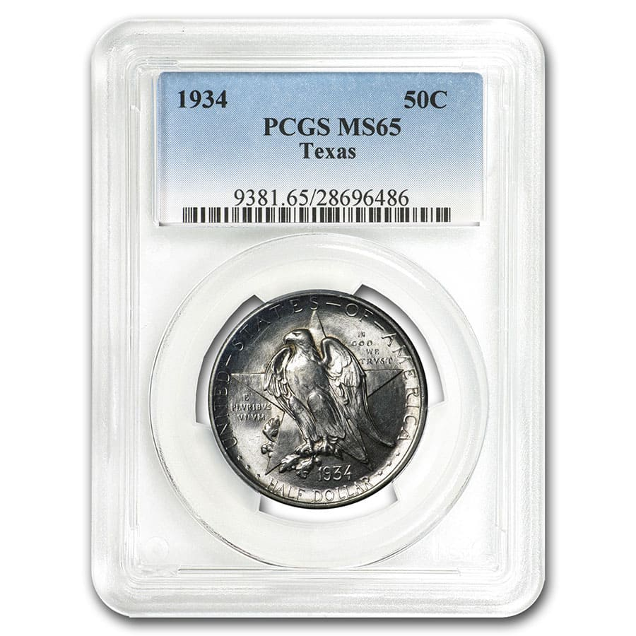 1934 Texas Centennial Commemorative MS-65 PCGS