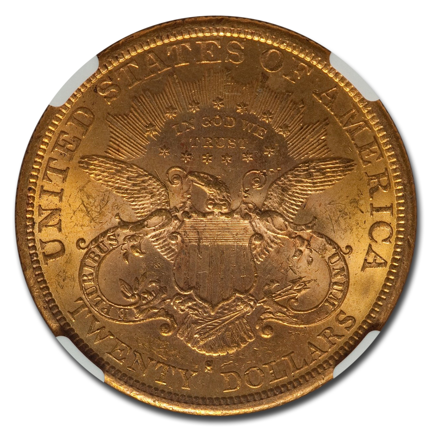 1878-S $20 Liberty Gold Double Eagle MS-60 NGC