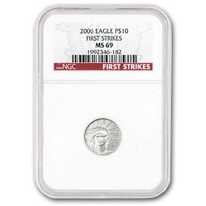 2006 1/10 oz Platinum American Eagle MS-69 NGC (First Strikes)