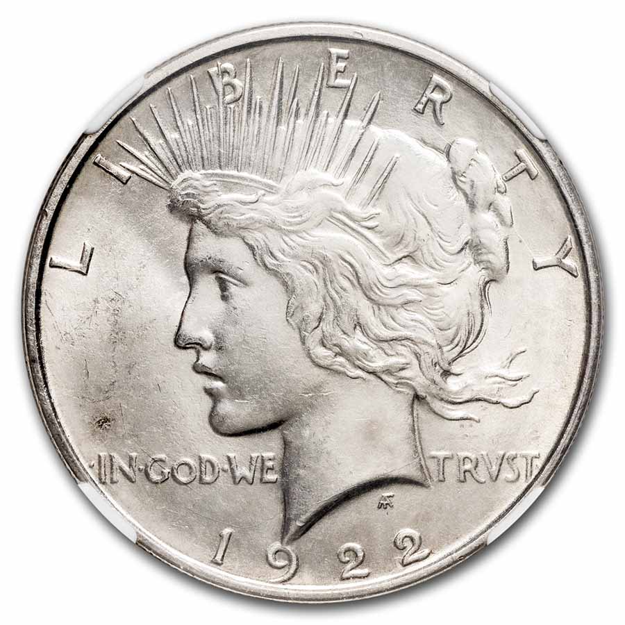 1922-D Peace Dollar MS-64 NGC