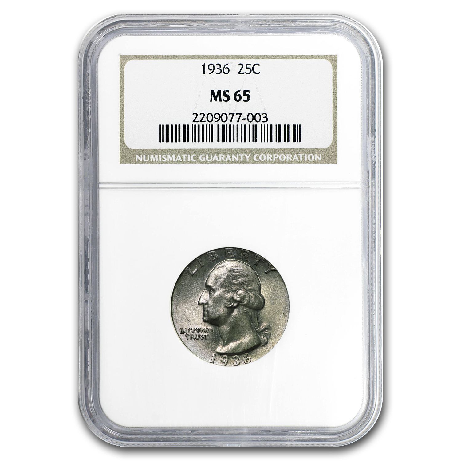 1936 Washington Quarter MS-65 NGC