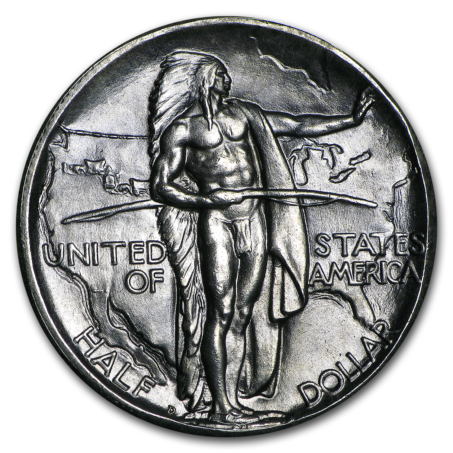 1934-D Oregon Trail Memorial Half MS-64