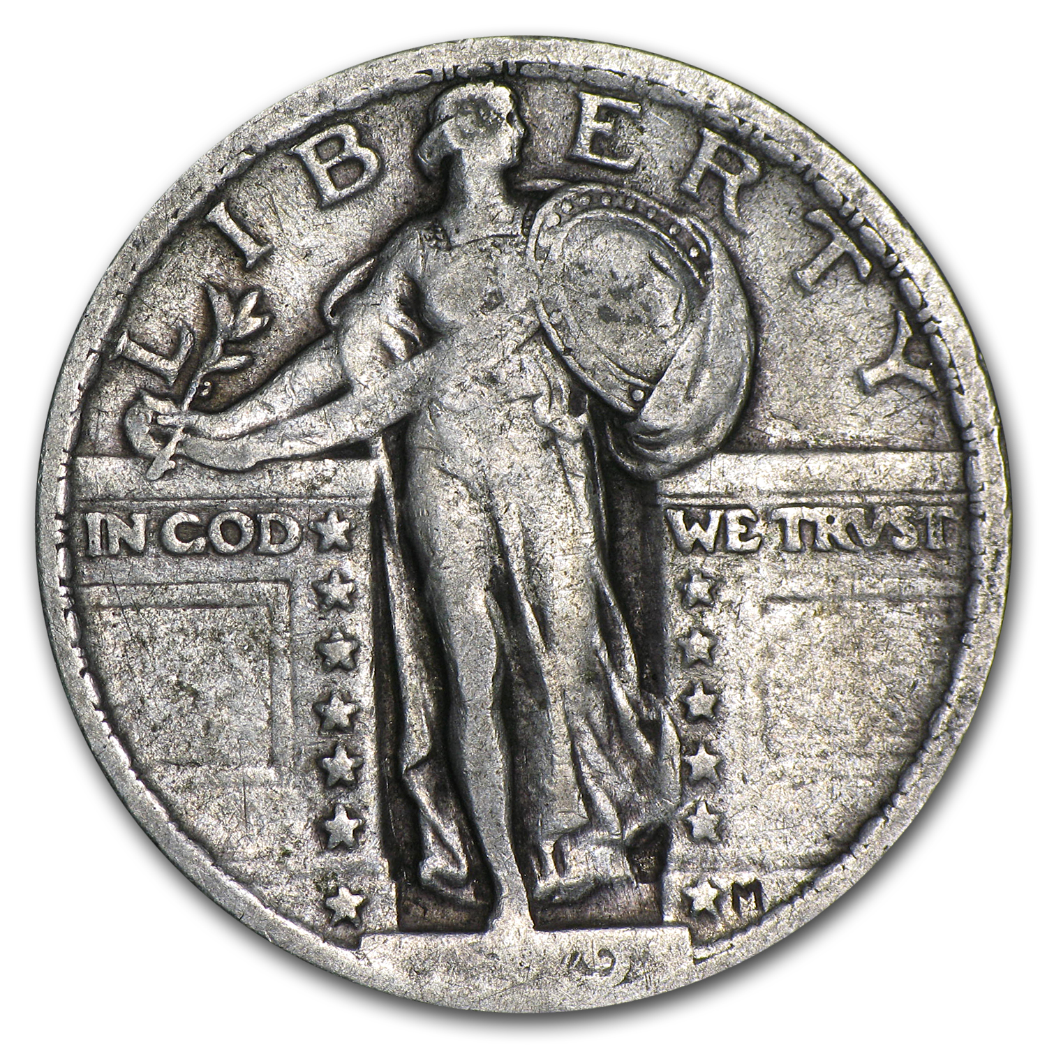 1919 Standing Liberty Quarter VF (Partial Date)