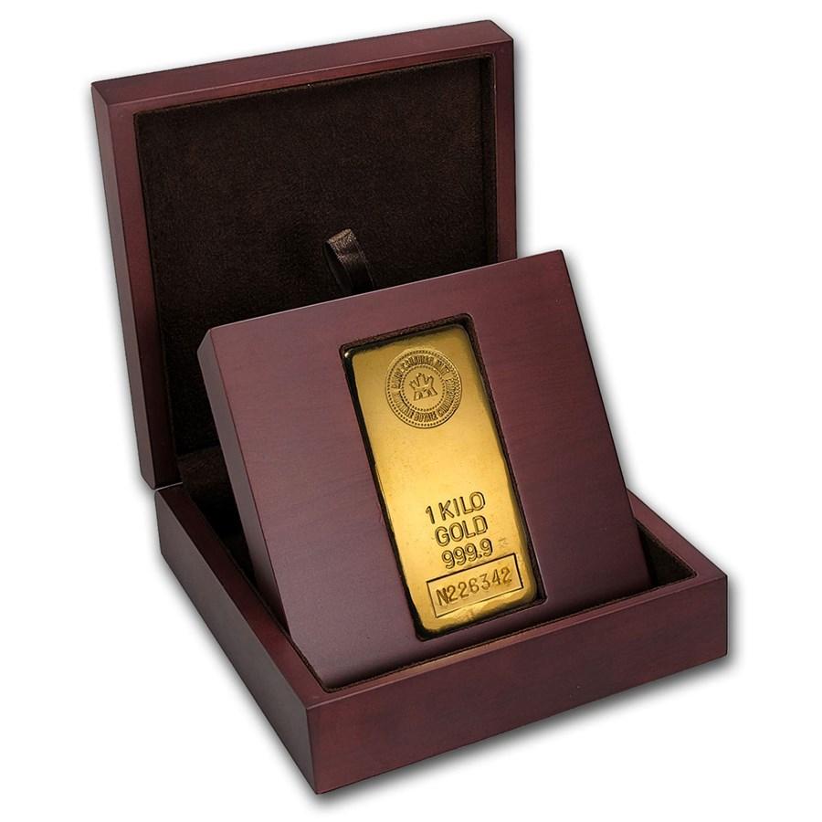 1 Kilo Gold Bar Royal Canadian Mint Rcm 1 Kilo Gold