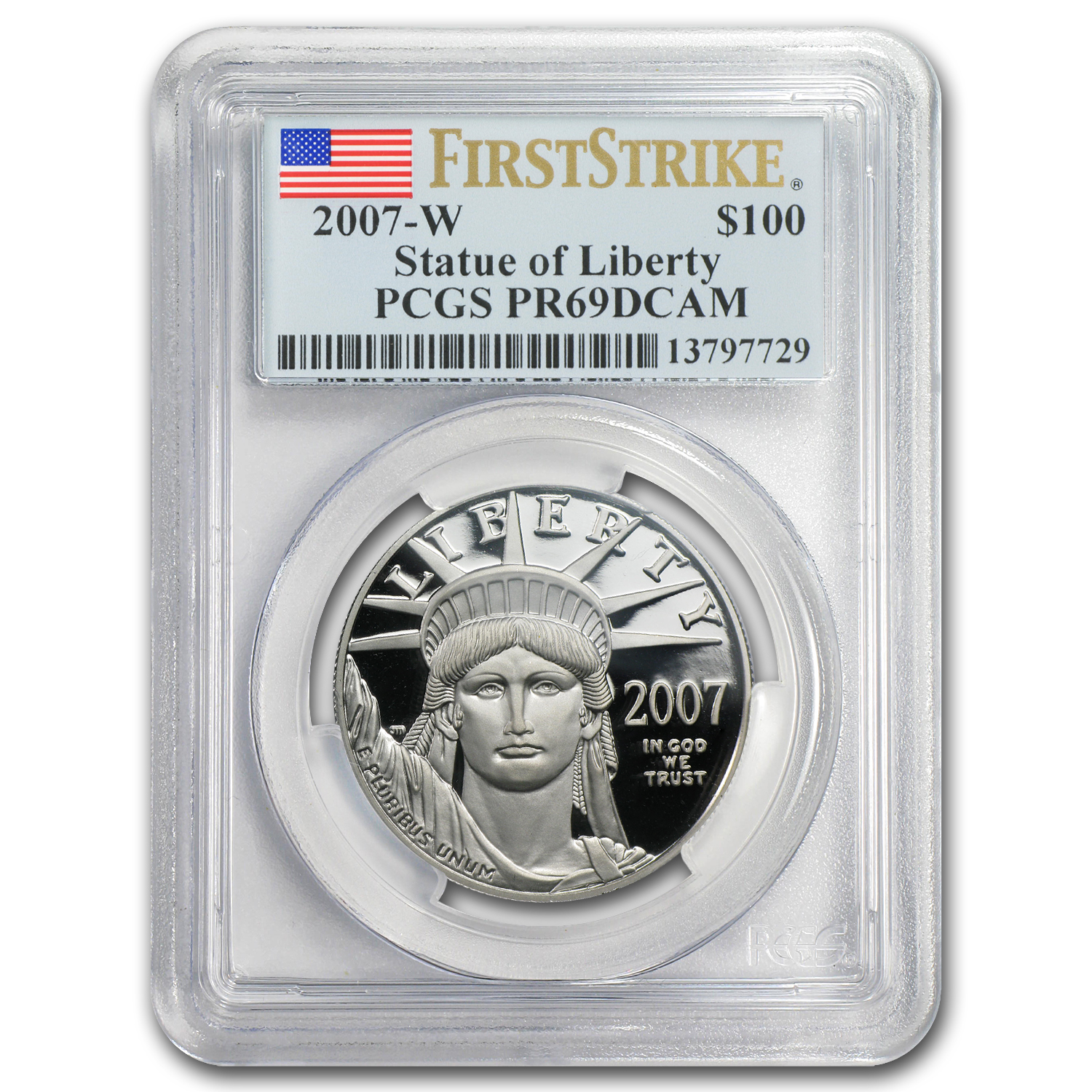 2007-W 1 oz Proof Platinum American Eagle PR-69 PCGS (FS)